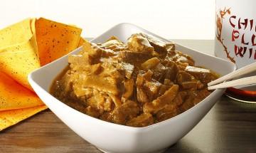 Seitan auf Currysauce
