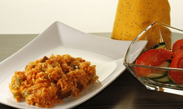 Pikantes Reisvleisch