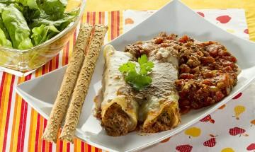 Cannelloni mit Tofu-Mangold-Füllung